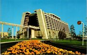 Vtg 1970and039s Wdw Walt Disney World The Contemporary Resort Monorail Post Card D