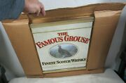 Vintage 1986 The Famous Grouse Finest Scotch Whisky Mirror Sign Nos