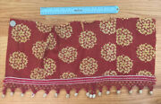 Antique French C. 1790-1820 Resist Dyed Hand Blocked Turkey Red Cotton Fabric
