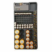 Gforce Wall Mounted Battery Organizer With Built In Tester - 13.8x 6.9x 1.7