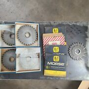 5 Hss Slitting Saws And 4 Carbide Tipped Slitting Saws