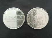 Lot Of 10 1/2 Roll - 1 Oz Apmex Silver Rounds - .999 Fine