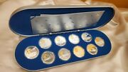 Canada 20 Aviation Set Series I. Sterling Silver Coins With Gold Cameo