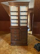 1930andrsquos Oak Medical / Physicians / Eye Doctor Antique Cabinet By Frank S Betz Co