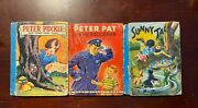 Lot Of 3 Peter Puckle Sunny Tales And Peter Pat Antique Childrens Books