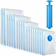18 Pieces Vacuum Storage Seal Saver Bags For Clothes Pillows Bedding Blankets...
