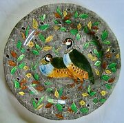 Gien French Faience Rambouillet Quails Dinner Plate Mint Vintage Condition
