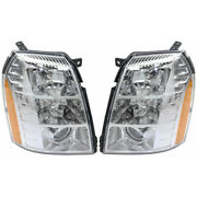 For Cadillac Escalade Headlight 2007-2009 Lh And Rh Pair Hid 1st Design Gm2502291