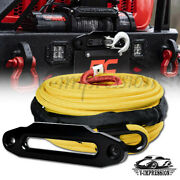3/8 95and039 22000lbs Synthetic Winch Rope Recovery Straps And 10 Tow Hawse Fairlead
