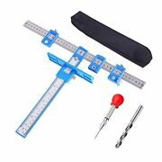Cabinet Hardware Jig Drill Punch Locator For Handles And Knobs Aluminum Alloy Dr