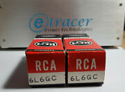 6l6gc Rca Black Plate Power Tube Matched Pair Nos Nib 1969 Etracer Tested