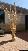 Cork Tree Sculpture Over 5 Ft Tall Hundreds Wine, Whiskey, Champagne Corks Used