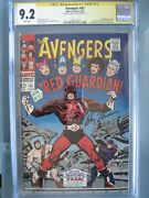 Avengers 43 Cgc 9.2 Wp Ss Signed Roy Thomas 1st App Red Guardian