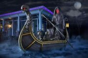 """8ft Led Halloween Prop Animated """"ferry Of The Dead"""" Skeleton Decor Yard/outdoor"""