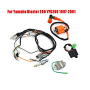 Ignition Coil +spark Plug +cdi +wiring Harness Kit For Yamaha Blaster 200 97-01
