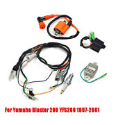 For 1997-01 Yamaha Blaster200 Yfs200 Ignition Coil Spark Plug Cdi Wiring Harness