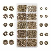 Antique Bronze Spacer Beads Gear Bicone Flower Metal For Bracelet 500 Pieces New