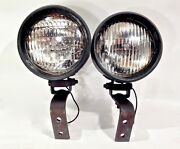 Vintage 1960's 70's Pair Of Do Ray 22 84 Accessory Driving Lights Working