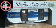 Diecast2007 Shelby Gt500 Signed Autographed By Carroll Shelby-white Blue Stripe