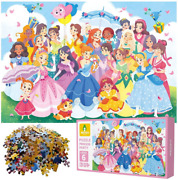 200 Pieces Princess Party Jigsaw Puzzles Fun Educational Learning Toys For Kids