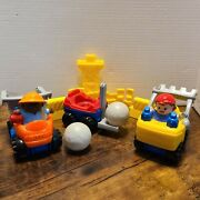 Fisher Price Little People 2002 Dump Truck Forklift And Front Loader And More