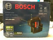 Bosch Gpl100-50g 125and039 5 Point Cordless Green Beam Self Leveling Alignment Laser