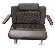 Taco Marine 40 Helm Bench Captains Chair Seat Brown