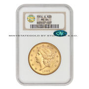 1904-s 20 Gold Liberty Head Double Eagle Ngc Ms64 Pq Approved Cac Certified