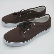 Com Mens Casual Shoes Size 9.5 Brown White Brand New