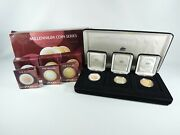 1999 2000 2001 Millennium Coin Series The Past Present Future Silver Proof Set