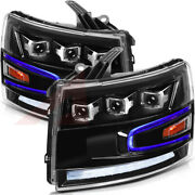For 2007-2013 Chevrolet Silverado 1500 Replacement Headlights Led Headlamps Pair