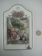 Villeroy And Boch Foxwood Tales Wall Plaque Picnic Scene Cheese And Cracker Board