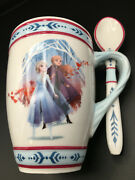 Frozen 2 - Hot Cocoa Mug - Disney's Frozen 2 Featuring Sisters Anna And Elsa