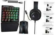 C91maxpro Gaming Keyboard And Mouse With Headset For N-switch/xbox One/ps4/ps3