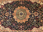 6x9 Blue Antique Oriental Rug Hand-knotted Vintage Handmade Handwoven 6x10 7x10