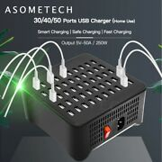 Usb Charger For Android Iphone Adapter Hub Charging Station Dock Socket
