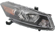 For Accord 08-12 Head Lamp Rh Assembly Halogen Raised Contour Turn Signal Co