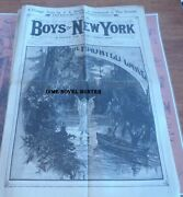 1886 Boys Of New York 5 Issues The Haunted Lake Story Paper Dime Novel Authors