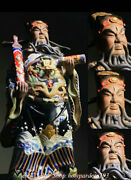 23.2 Old Chinese Wucai Porcelain Dynasty Chancellor Justice Pao Statue