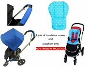 Pink Blue Polka Dot Cushion Pad Handlebar Covers Protect For Chicco Strollers