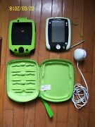 Leappad 2 System With Green Color Cover, Green Color Hard Case And White Charger