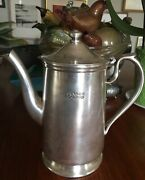 Vintage Bourbon Orleans Silver Coffee Tea Pot New Orleans Most Haunted Hotel