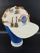Vintage Instant Collection Hard Rock Cafandeacute Pin/pinback Chicago Illinois White Hat