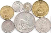 South African Coins Unc 1963 50c Cents -1/2 Cent Coin Set Rare