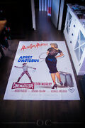Bus Stop 1956 4x6 Ft Vintage French Grande Movie Poster Rerelease 1980's