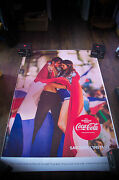 Coca Cola Rare Style H 4x6 Ft Bus Shelter Original Food Advertising Poster