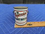Vtg Frotenac Brand Peanut Butter Tin Can W/ Bail Handle 1930s 40s Gammon Grocery
