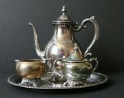 F.b. Rogers Silver Co Silverplate 1883 Tea Set With Tray