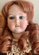 Antique German C M Bergman Doll 24andrdquo With Fully Jointed Compo Body