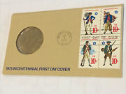 1975 Bicentennial First Day Cover Commemorative Stamp And Medal With Paul Revere